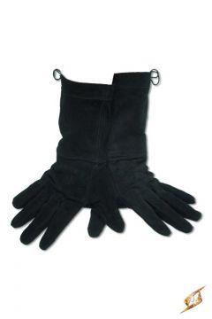 Wildlederhandschuhe in schwarz