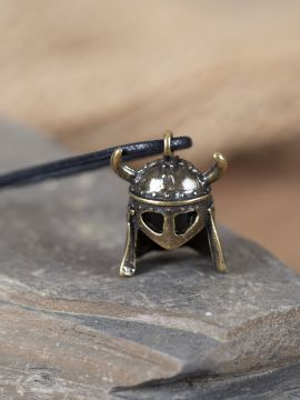 Amulett Wikingerhelm messing