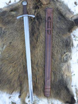 Schaukampftaugliches Kreuzritter Scheibenknauf-Schwert