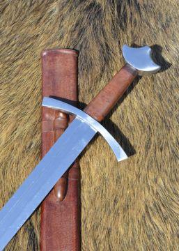 Hochmittelalter-Ritterschwert mit Scheide, schaukampftauglich