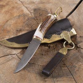 Wikingermesser mit Hirschhorngriff