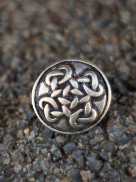 Knopf mit Keltenkreuz - silber