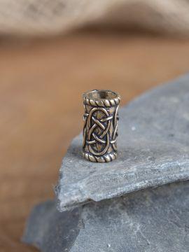 Bartperle Zylinder bronze groß