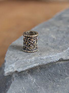 Bartperle Zylinder bronze klein