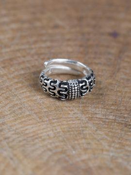 """Wikinger-Ring """"Falster"""" versilbert"""