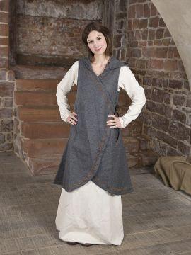 Wickelkleid Dala aus Wollfilz grau