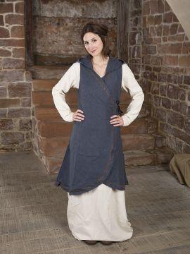 Wickelkleid Dala aus Baumwolle grau