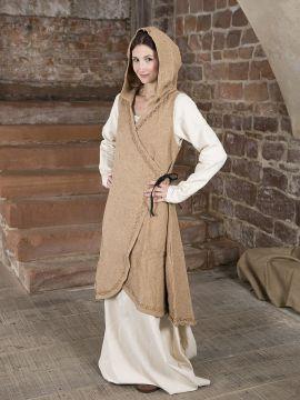 Wickelkleid Dala aus Baumwolle hellbraun XXL/XXXL