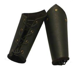 Armschienen aus Leder schwarz