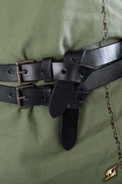 Doppelgürtel schwarz