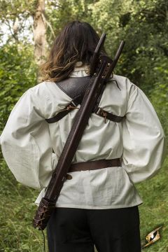 Rückenhalter für LARP Schwerter braun