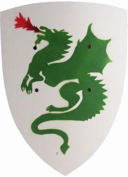 Schild Drache weiß-grün