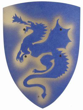 Schild Drache - blau