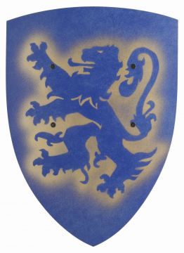 Schild - Löwe blau