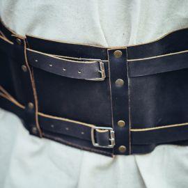 Wikingergürtel aus Leder braun 120 cm