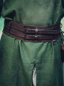 Wikingergürtel mit Prägung dunkelbraun 120 cm
