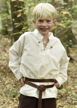 Kinder Mittelalterhemd natur 110