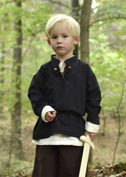 Kinder Mittelalterhemd schwarz