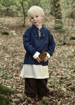 Kinder Mittelalterhemd blau 110