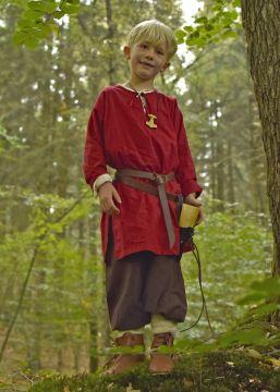 Mittelaltertunika für Kinder rot
