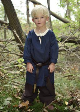 Mittelaltertunika für Kinder blau