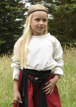 Mädchenbluse für Mittelalter natur