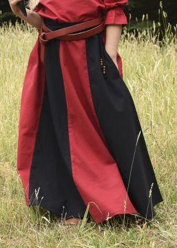 Mädchenrock für Mittelalter rot-schwarz