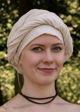 Mittelalter Kopftuch natur