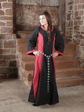 Kleid Irmgard schwarz/rot