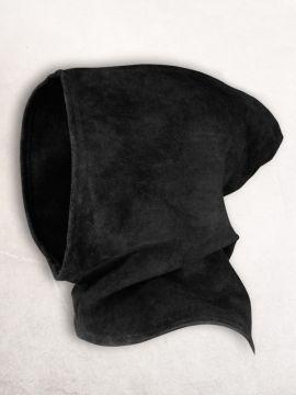 Gugel aus Wildleder schwarz