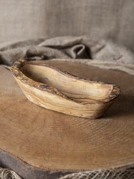 rustikale Schale oval