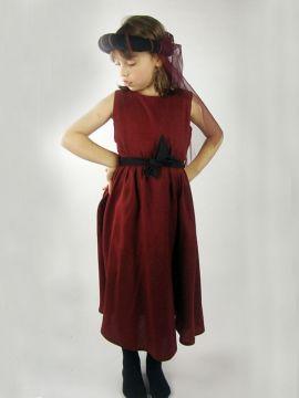Ärmelloses Kinderkleid rot
