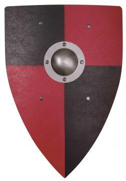 Normannenschild für Kinder rot-schwarz
