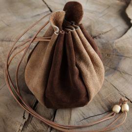 Beuteltasche zum Umhängen - aus Leder