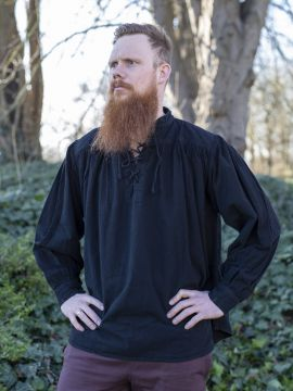 Mittelalterhemd schwarz S