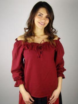 Bluse mit Schnürung rot