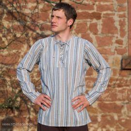 Bauernhemd - geschnürt - ohne Kragen