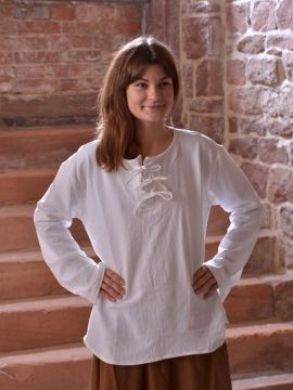 Bluse mit langen Ärmeln weiß