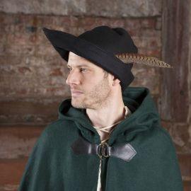 Hut - Robin Hood (Wolle), schwarz