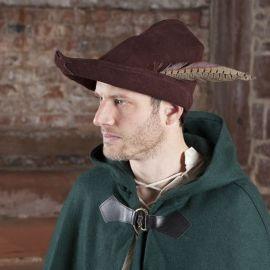 Robin Hood Hut aus Leder, braun