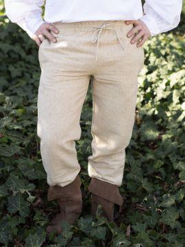 Mittelalterhose aus grober Baumwolle hanf