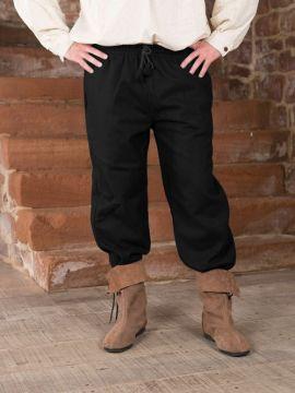 Mittelalterhose aus Wolle schwarz