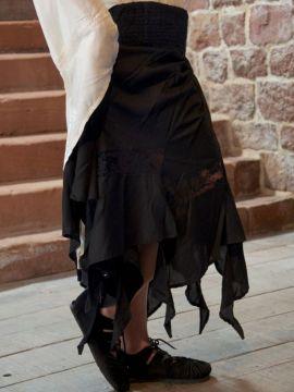 Zipfelrock Hexenrock in schwarz