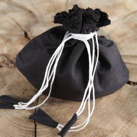 Stoffbeutel für Damen schwarz
