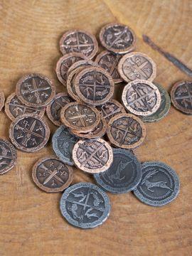 LARP-Münzen Kelten ohne Lederbeutel