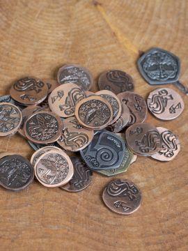 LARP-Münzen Reiter ohne Lederbeutel