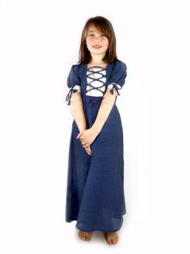 Leichtes Kinderkleid blau
