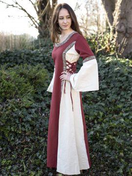 Kleid Klarissa rot-natur