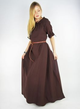 Kurzarmkleid Brida braun XL