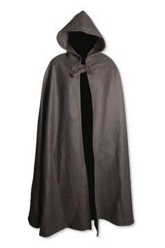 Umhang aus Wolle (mit Kapuze) schwarz